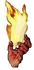 Flame in hand