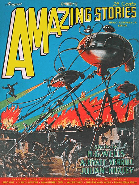 War of the Worlds in Amazing Stories