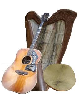 Harp, Drum, Guitar Instruments of Moonheart